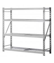 "Sandusky 4-Shelf 72"" H Treadplate Welded Rack Open-Back Storage Shelving Unit"
