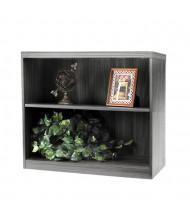 Mayline Aberdeen AB2S36 2-Shelf Bookcase (Shown in Grey Steel)