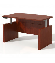 """Mayline Aberdeen 72"""" W Electric Bow Front Height Adjustable Desk (Shown in Cherry)"""
