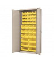 """Akro-Mils 18"""" D Steel Cabinet Unit (Putty Cabinet, 42 AkroBins in Yellow)"""