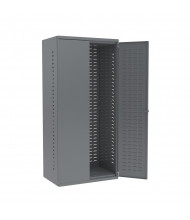 """Akro-Mils 24"""" D Steel Cabinet Unit w/ Louvered Back and Doors (Shown in Grey)"""