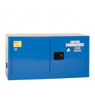 Eagle ADD-CRA Manual Two Door Corrosives Acids Safety Cabinet, 15 Gallons, Blue