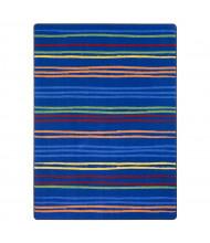 Joy Carpets All Lined Up Rectangle Classroom Rug, Rainbow