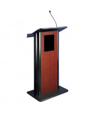 Amplivox Flat Contemporary Lectern with Wireless Sound System (Shown in Cherry)