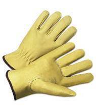 Anchor Brand 4000 Series Pigskin Leather Driver Gloves, Beige, X-Large, 12/Pairs