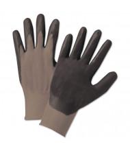 Anchor Brand Nitrile-Coated Gloves, Gray/Black, Nylon Knit, Medium, 12/Pairs
