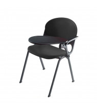 """KFI Seating 2000-AP 11"""" x 16"""" Tablet Arm Student Chair Desk, Left-Hand (Charcoal)"""