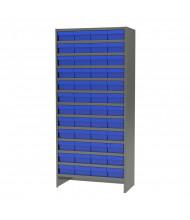 "Akro-Mils 13-Shelf 18"" D Enclosed Steel Shelving Unit with AkroDrawer Bins (Shown with Blue Bins)"