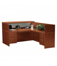 Mayline Aberdeen AT36 L-Shaped Reception Desk (Shown in Cherry)