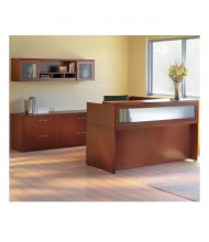 Mayline Aberdeen AT37 L-Shaped Reception Desk Set (Shown in Cherry)