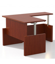 "Mayline Aberdeen 72"" W x 30"" D Electric L-Shaped Straight Front Height Adjustable Desk (Shown in Cherry)"