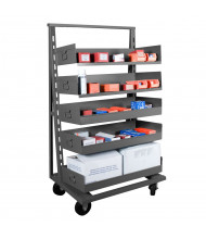 "Durham Steel 2500 lb Load 38"" W Adjust-A-Tray Trucks (Trays sold separately)"