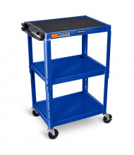 Luxor 3-Shelf Height Adjustable Presentation AV Cart (Shown in Royal Blue)