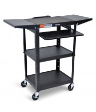 Luxor 5-Shelf Height Adjustable Presentation AV Cart (Shown in Black)