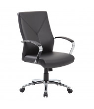 Boss B10101 LeatherPlus High-Back Executive Office Chair (Shown in Black)