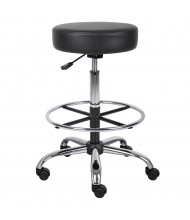 Boss B16240 Backless Caressoft Medical Doctor's Stool, Footring (Shown in Black)