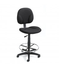 Boss B1690 Contoured Back Drafting Stool, Footring (Shown in Black)