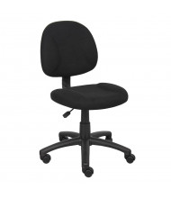 Boss B315 Deluxe Fabric Mid-Back Posture Task Chair (Shown in Black)