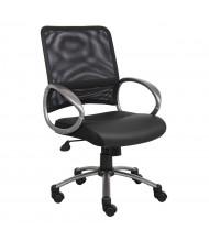 Boss B6406-BK Professional Mesh-Back LeatherPlus Managers Chair