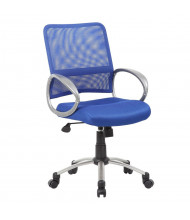 Boss B6416 Mesh-Back Fabric Mid-Back Task Chair (Shown in Blue)