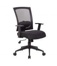 Boss B6706 Mesh-Back Fabric Mid-Back Task Chair (Shown in Black)