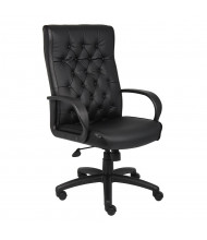 Boss Button-Tufted LeatherPlus High-Back Executive Office Chair