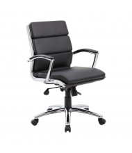 Boss B9476 CaressoftPlus Mid-Back Executive Office Chair (Shown in Black)