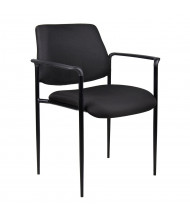Boss B9503 Square Back Contemporary Stacking Guest Chair (Shown in Black)