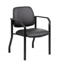 Boss B9591AM-BK Big & Tall 300 Lb. Antimicrobial Vinyl Mid-Back Guest Chair