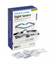 Bausch & Lomb Sight Savers Premoistened Lens Cleaning Tissues, 100 Tissues/Pack