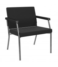 Office Star Bariatric 400 lb Big & Tall Guest Chair (Shown in Black)