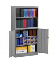 "Tennsco 36"" W x 18"" D x 72"" H Combination Bookcase Storage Cabinet (Shown in Medium Grey)"