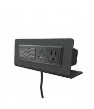 """Axil M Power Outlet, USB Charging Port & Bluetooth Speaker Power Module 72"""" Cord (Shown in Black)"""