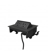 MhoB 2-Power Outlet Power Module, (Shown in Black)