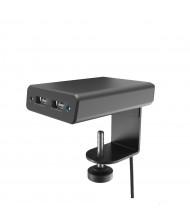 Garcia 2 USB Charging Port Edge Mount Power Module, (Shown in Black)