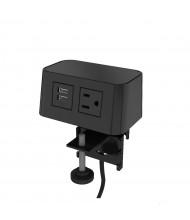 "Burele Power Outlet & 2-USB Charging Port Slide Mount Power Module 72"" Cord, (Shown in Black)"