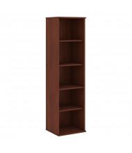 "Bush 66"" H 5-Shelf Narrow Bookcase (Shown in Hansen Cherry)"