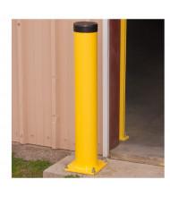 """Bluff 6"""" Round Steel Bollard Posts (Shown in Yellow)"""