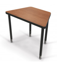 """Balt Snap 30"""" x 18"""" Large Trapezoid Height Adjustable Student Desk (Shown in Amber Cherry)"""