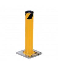 "Vestil 5.5"" Round Surface Mounted Removable Steel Bollard Post (24"" model)"