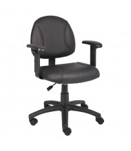 Boss B306 Deluxe LeatherPlus Mid-Back Posture Chair