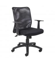 Boss B6106 Mesh-Back Fabric Mid-Back Task Chair