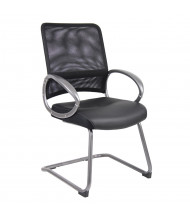 Boss B6409 Professional Mesh-Back LeatherPlus Mid-Back Guest Chair