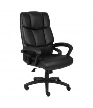 "Boss ""No Tools Required"" Italian Leather High-Back Executive Office Chair"