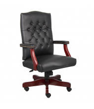 Boss B905 Traditional Button-Tufted Hardwood Executive Office Chair (Shown in Black)