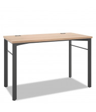 """Basyx Manage 48"""" W Computer Table Desk, Wheat"""