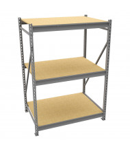 "Tennsco 48"" D 3-Shelf Particleboard Deck Bulk Storage Units"