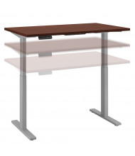 """Bush 48"""" W x 24"""" D Laminate Top Electric 27"""" - 47"""" Height Adjustable Standing Desk (Shown in Harvest Cherry / Grey)"""