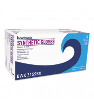 Boardwalk Powder-Free Synthetic Vinyl Gloves, Small, Cream, 4 mil, 1,000/Pack
