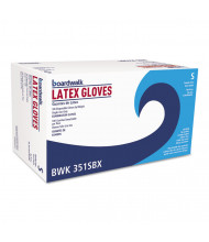 Boardwalk Powder-Free Latex Exam Gloves, Small, Natural, 4.8 mil, 1,000/Pack